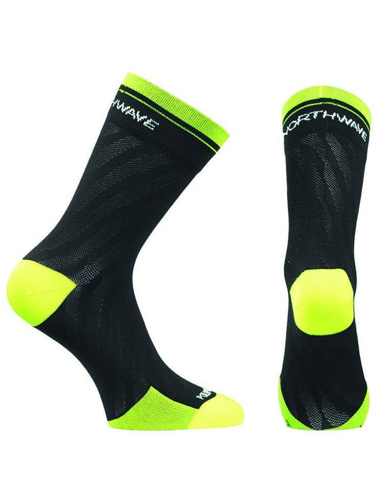 Northwave New Logo strømper til kvinder sort/gul | Socks