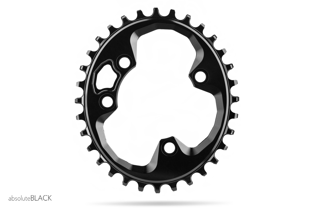 Absolute Black Klinge Oval Rotor 76 mm | chainrings_component