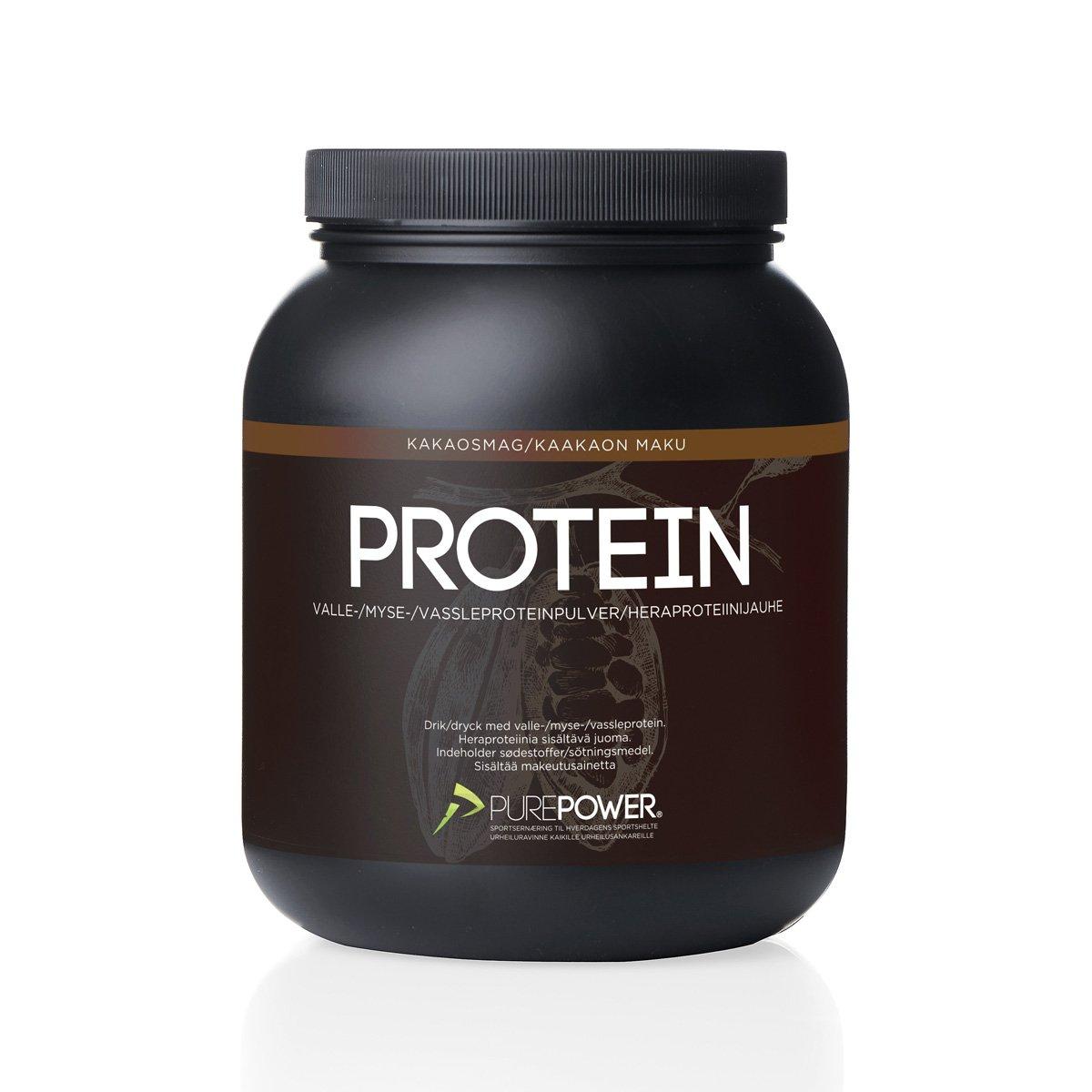 PurePower Proteinpulver Kakao 1 kg   Proteinbar og -pulver