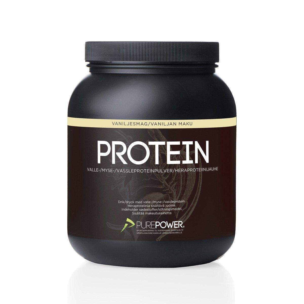PurePower Proteinpulver Vanilie 1 kg   Proteinbar og -pulver