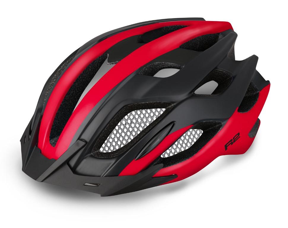 R2 Tour Cykelhjelm sort/rød