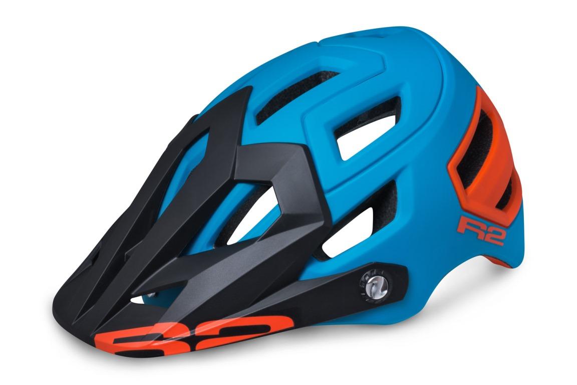 R2 Trail Cykelhjelm Blå/Orange | Helmets