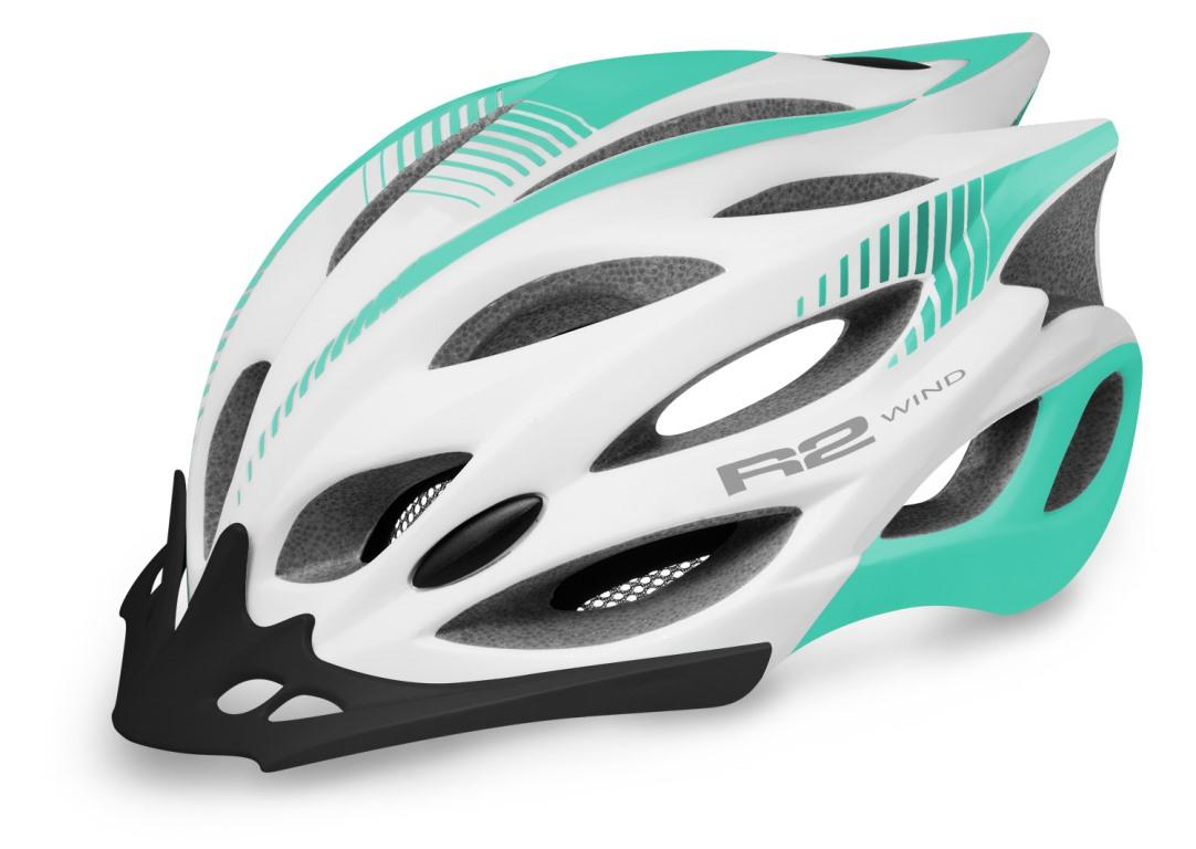 Rask R2 Wind Cykelhjelm hvid/turkis - 399,00 : Cykelgear.dk - Cykelgear.dk XD-52