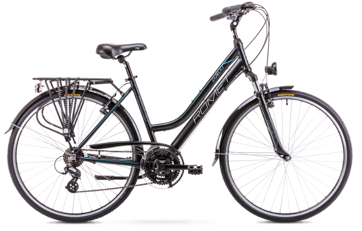Romet Gazela 1, 28 21gear, Altus-mix, sort | City-cykler
