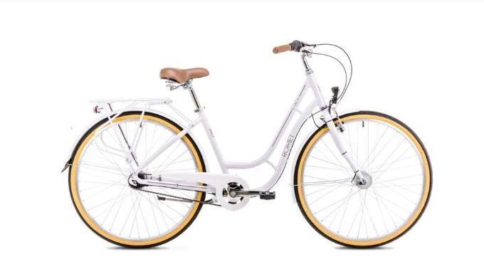 Romet Luiza hvid dame 7 gear | City-cykler