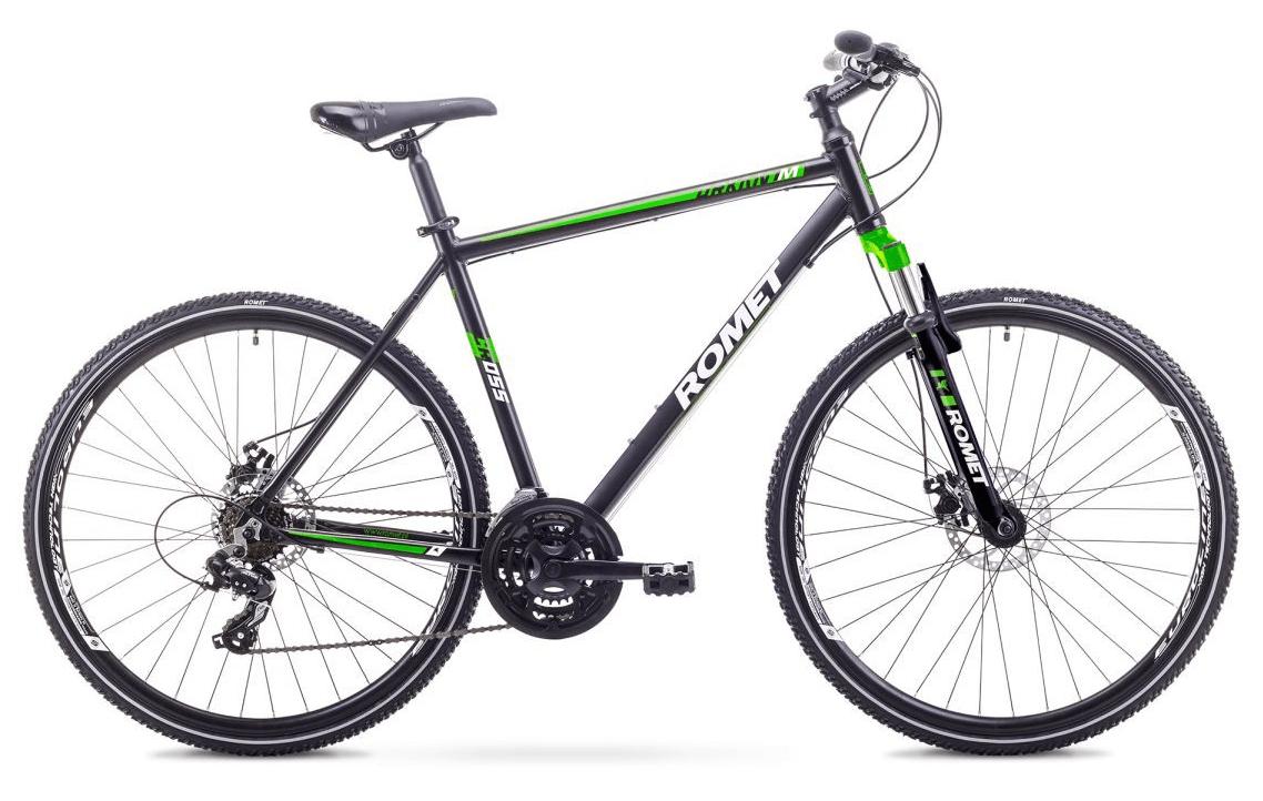 Romet Orkan 1 herre, 21speed, Tourney, sort/grøn | City-cykler