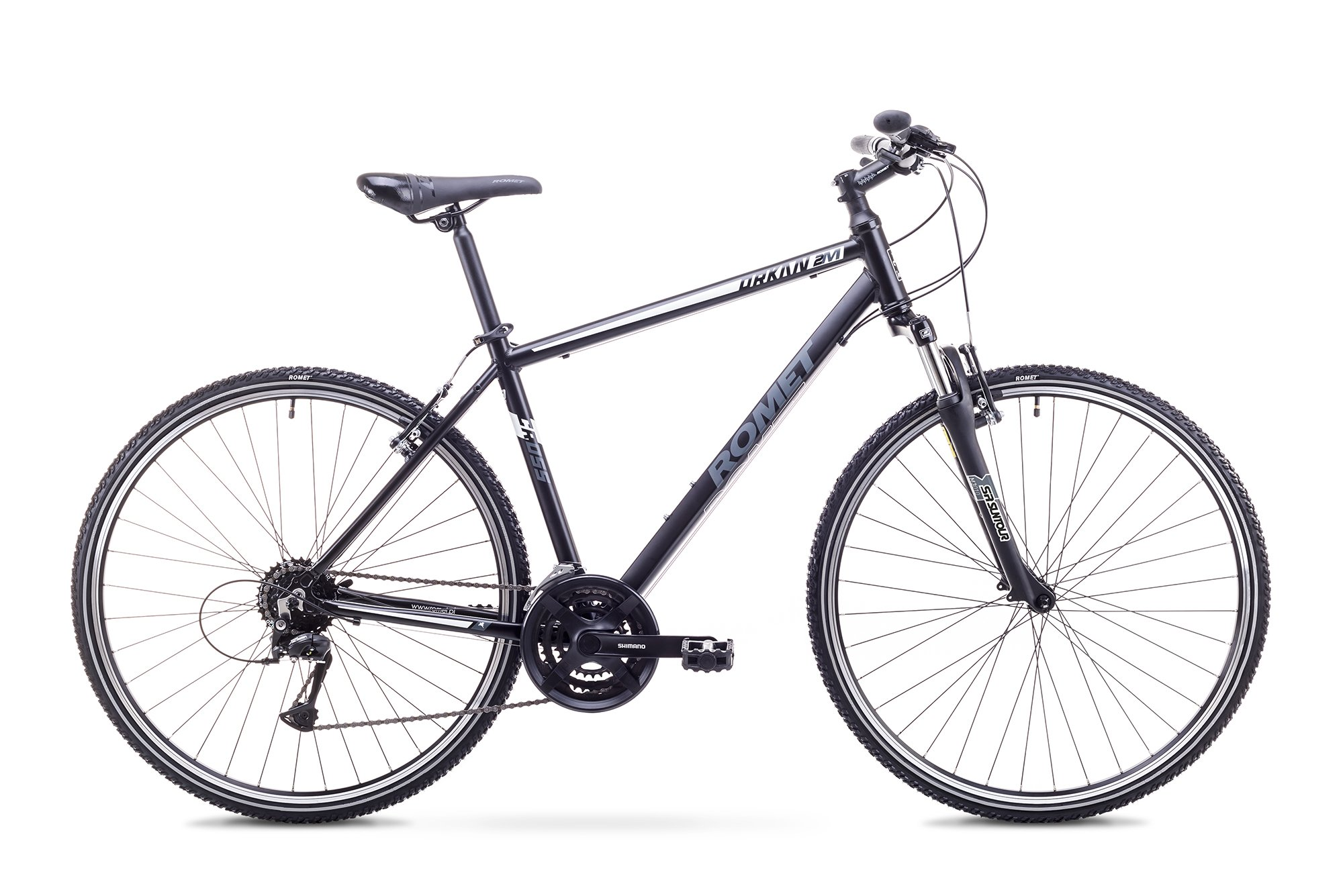 Romet Orkan 2 herre, 24speed, Acera-mix, Sort/Grå | City-cykler