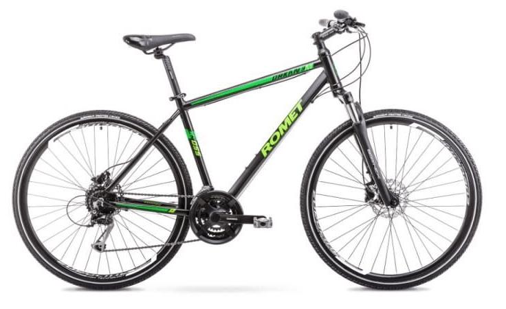 Romet Orkan 3 herre, 24speed, Alivio-mix, sort/grøn | City-cykler
