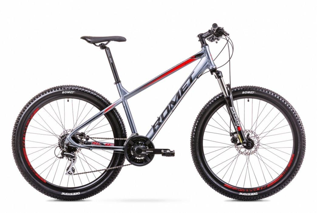 Romet Rambler R7.2 27,5 24speed Acera-mix Grå/Rød | Mountainbikes