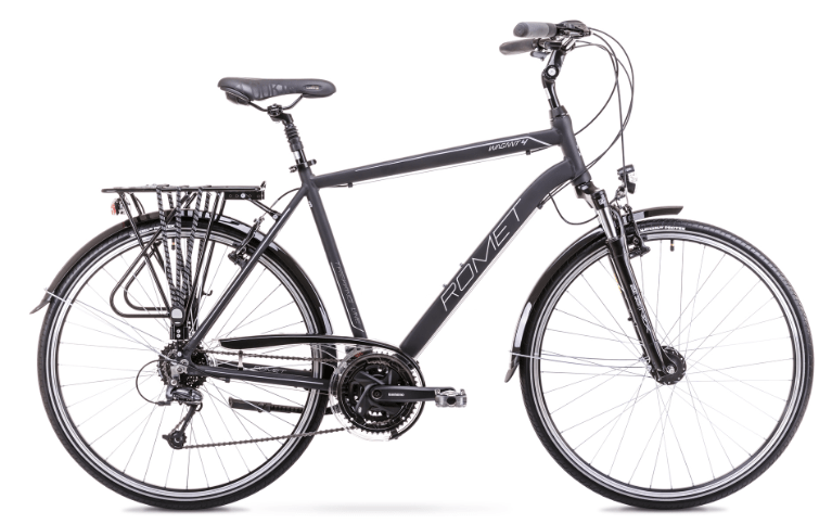 Romet Wagant 4, 28, 27gear, Deore-mix, sort/sølv | City-cykler