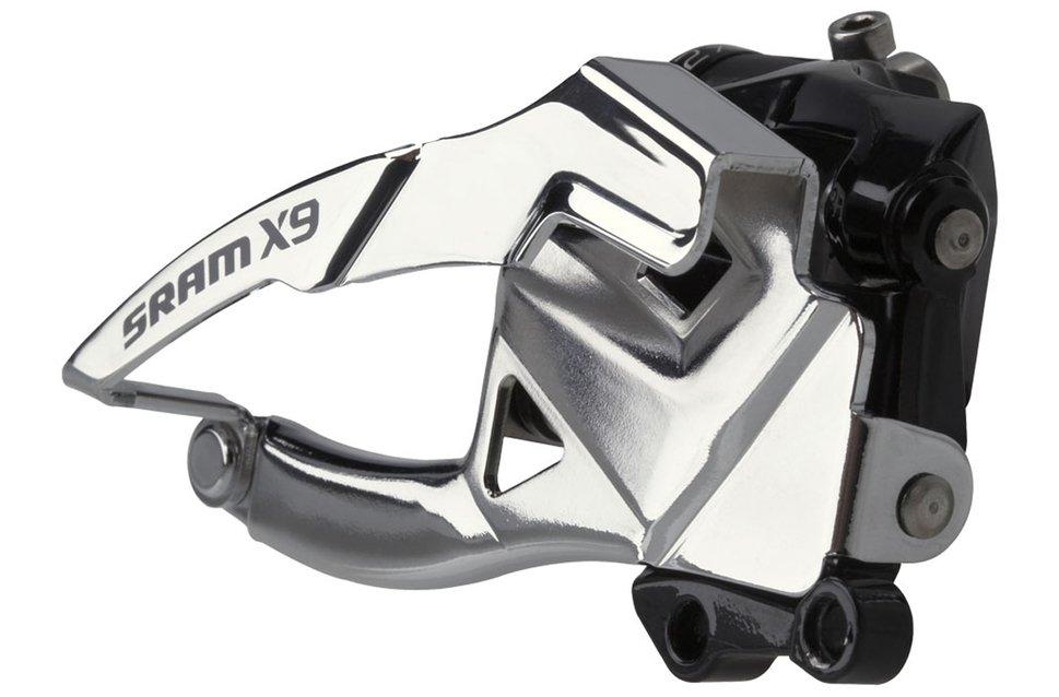 SRAM X9 forskifter 2x10 speed toppull 39t S3 mount | Front derailleur