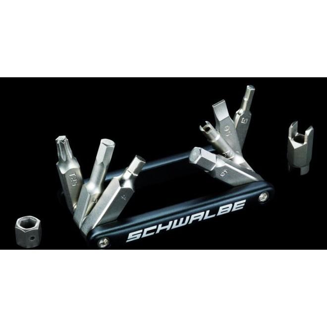 Schwalbe Multitool med 10 funktioner | Multi- og miniværktøj