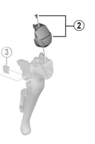 Shimano Dæksel Venstre Claris R2000 Sort | Gearvælger og drejegreb