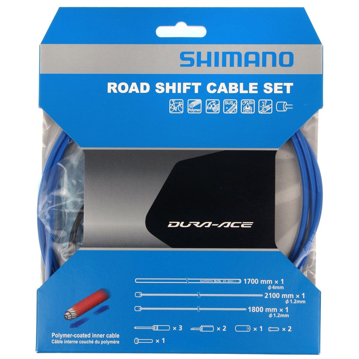 Shimano Dura-Ace bremsekabel sæt blå   Bremsekabler