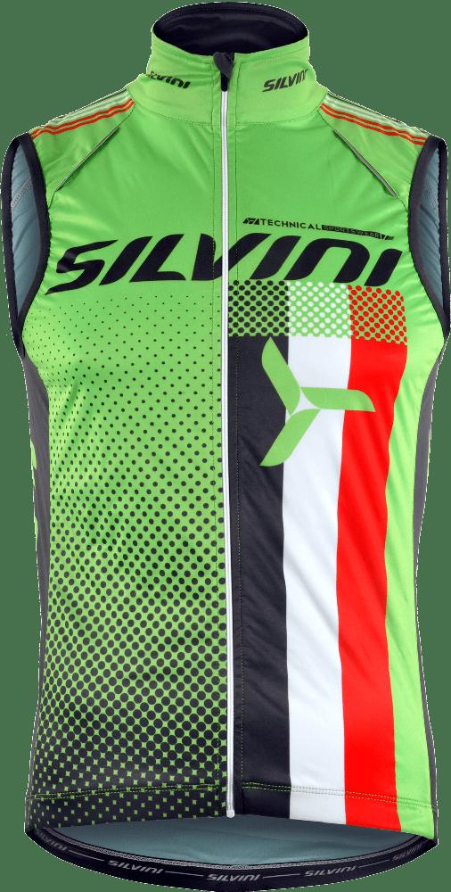 Silvini Team Cykelvest Grøn