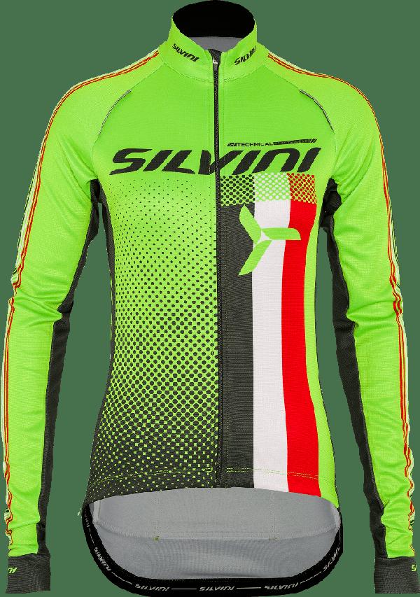 Silvini Team Thermal Cykeltrøje Grøn til kvinder   Jerseys