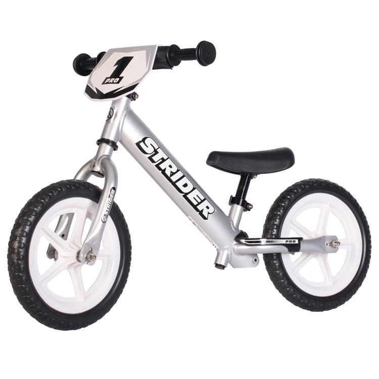 Strider Sport Pro 12 Løbecykel Sølv | Learner Bikes