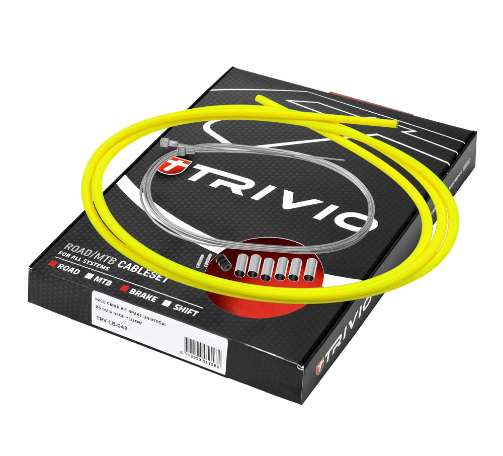 Trivio Bremsekabelsæt gul racer   Bremsekabler