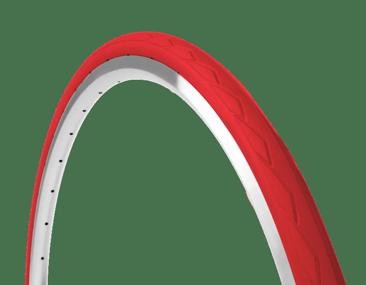Moderne Tannus Punkterfri Citybike dæk 700x32C (32-622) rød - 349,00 KY55