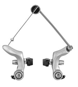 Tektro Oryx sølv cantilever / cyclocross bremse   Bremseklo og kaliber