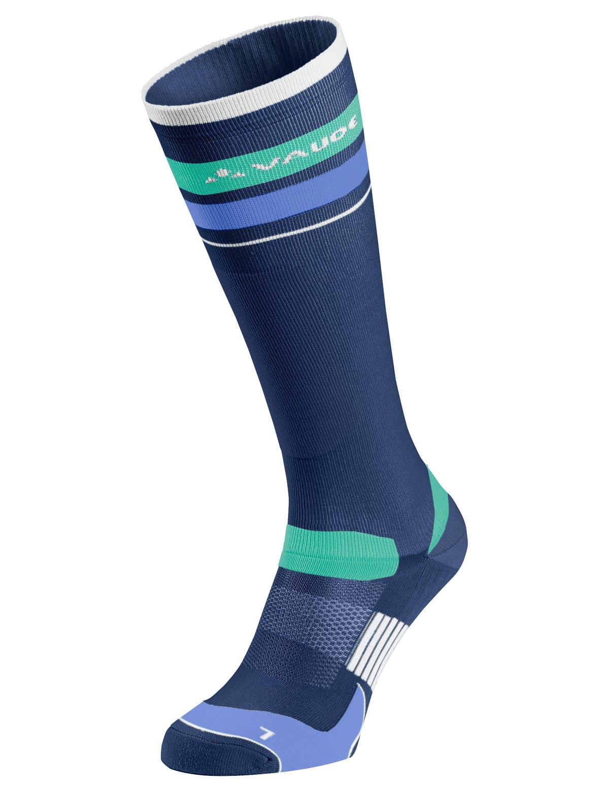 Vaude strømper lang blå/grøn | Strømper