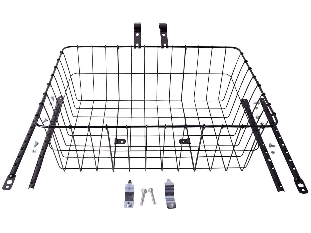 Wald Multifit kurv 46x33x15cm sort | Bike baskets