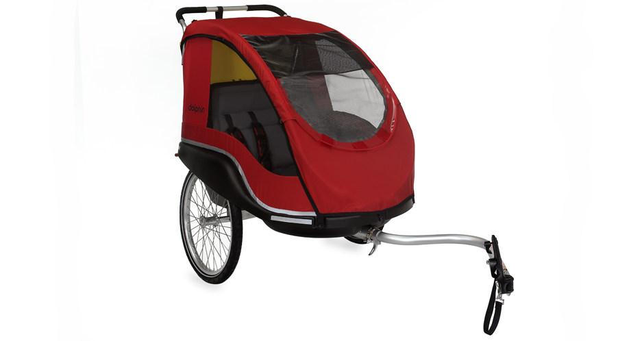Winther Dolphin XL cykeltrailer rød med Weber kobling | bike_trailers_component