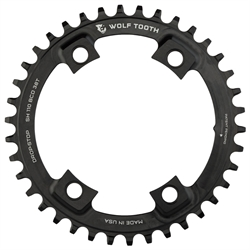 Wolf Tooth Drop-Stop Klinge Shimano Asymmetrisk Ø110 4 Huller 46T | chainrings_component