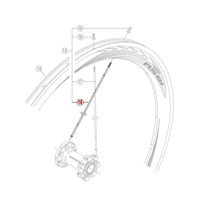 Eger til Shimano WH-RS81 C50 264,5mm | Eger