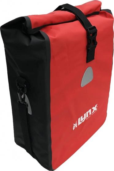 Lynx bagagebærertaske tarpaulin rød