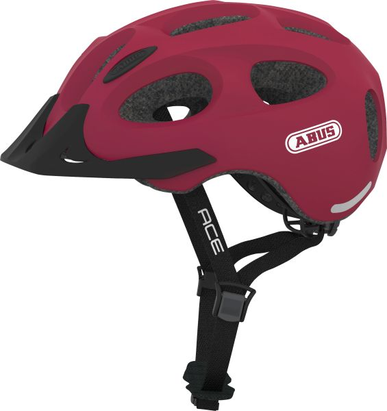 Abus Youn-I Ace cherry rød   Hjelme