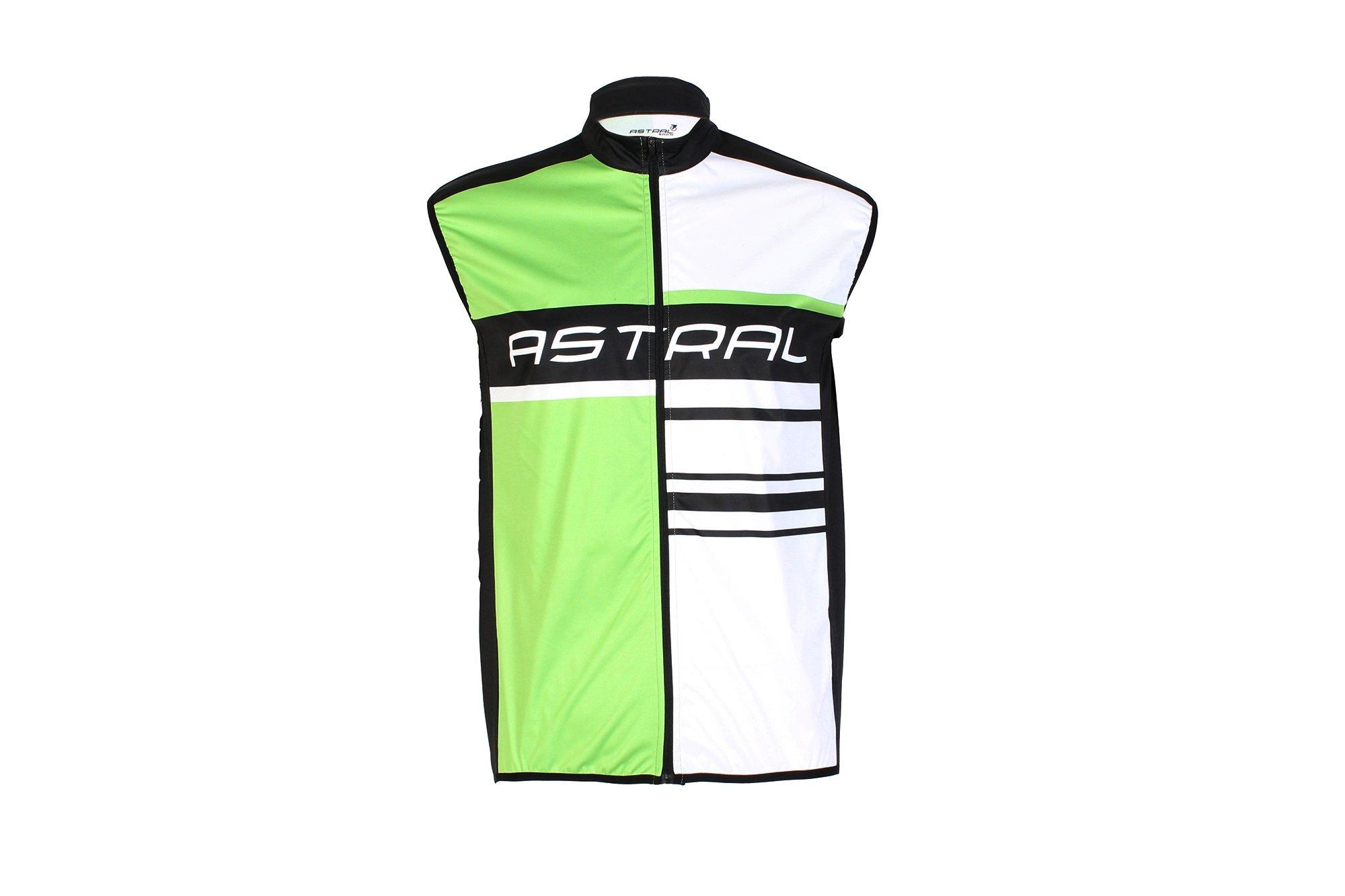 Astral softshell cykel vest grøn/hvid/sort
