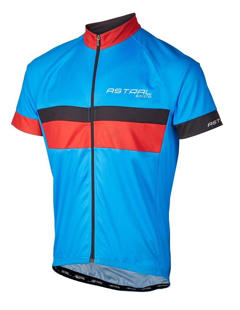 Astral Stelvio II cykeltrøje med korte ærmer blå/rød