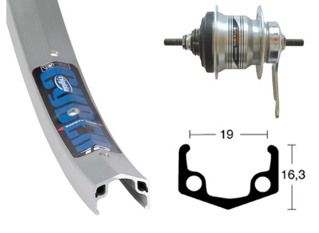 Baghjul 26 7 gears Nexus | Hjul