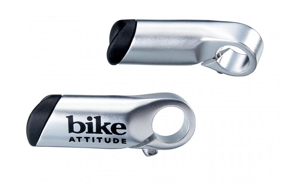 Bike Attitude barends dråbeformet 80 mm sølv - 109,00 | Barends