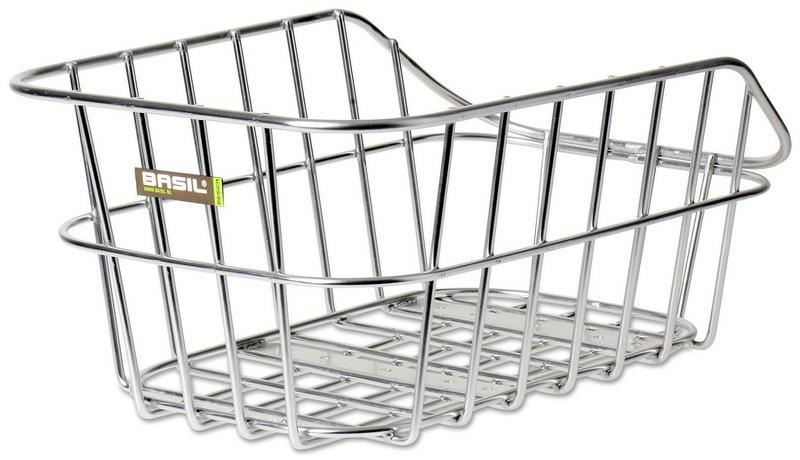 Basil bagkurv Cento alu 40x24x21 sølv | Bike baskets