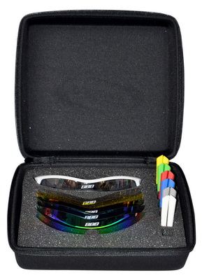 BBB solbrille Select box hvid 6 glas 7 gummi | Glasses