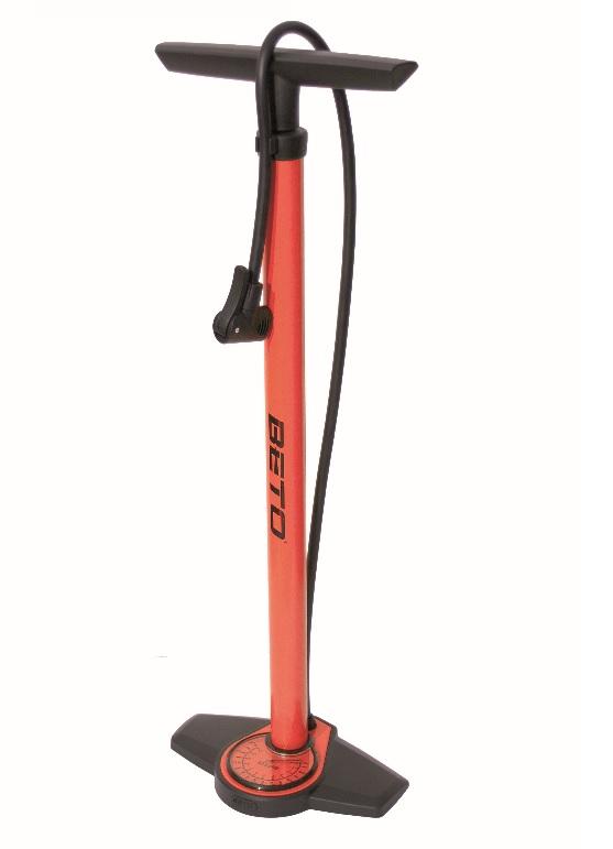 BETO rød fodpumpe med manometer | Fodpumper