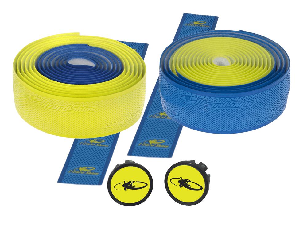 Lizard Skin styrbånd Blå og gul 2,55 mm   Bar tape