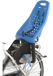 Barnestol bag Yepp blå med beslag til bagagebærer