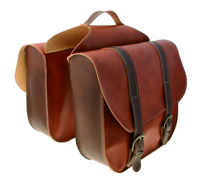 Vintage dobbelt bagagebæretaske brun   item_misc