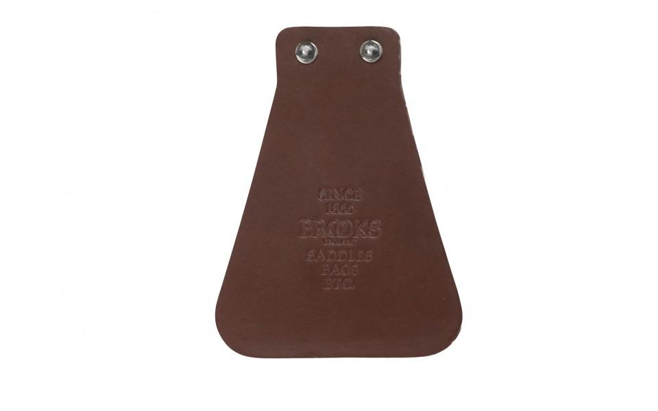 Brooks Stænklap i læder brun | Skærme
