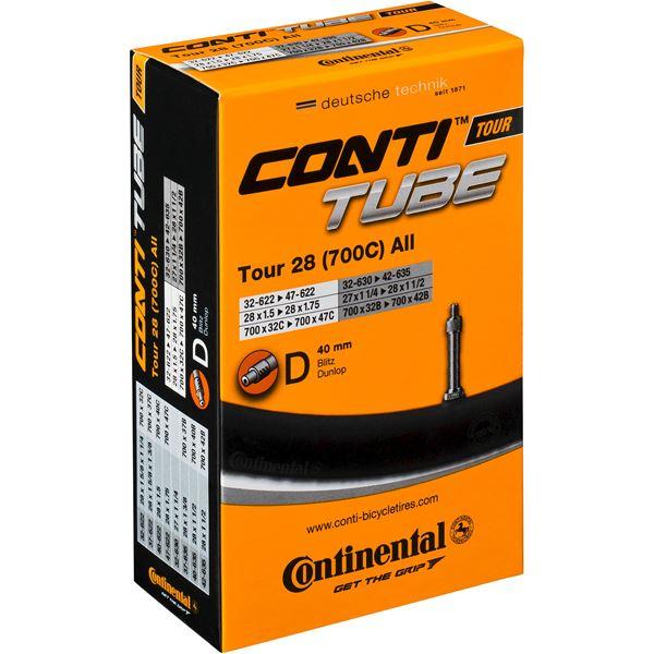 Continental 700 x 32-47C Slange Dunlop Ventil
