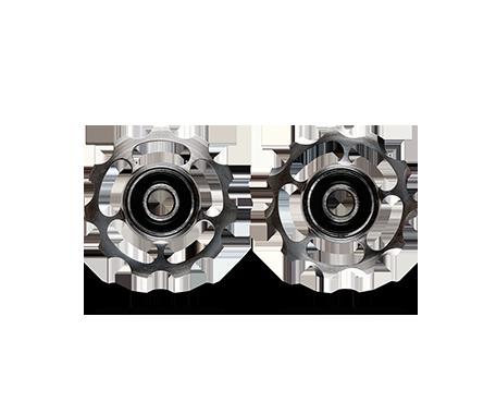 CeramicSpeed Keramiske/Titanium Pulleyhjul Rød Shimano 9/10-speed   Pulleyhjul