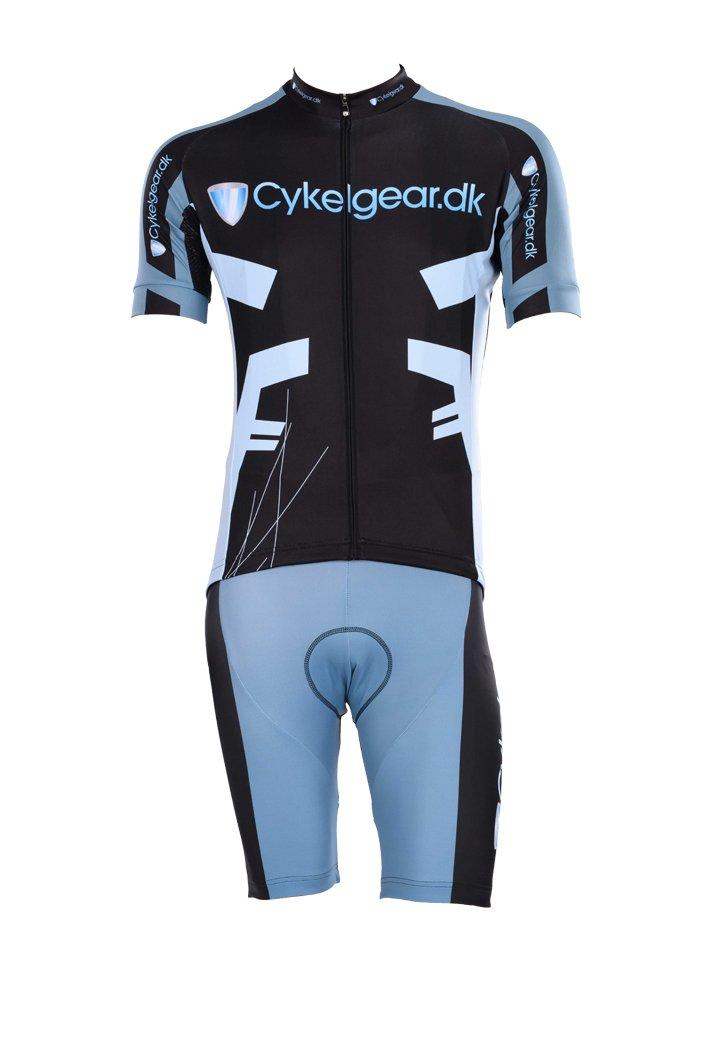 Cykelgear.dk Kort Team Jersey grå/blå