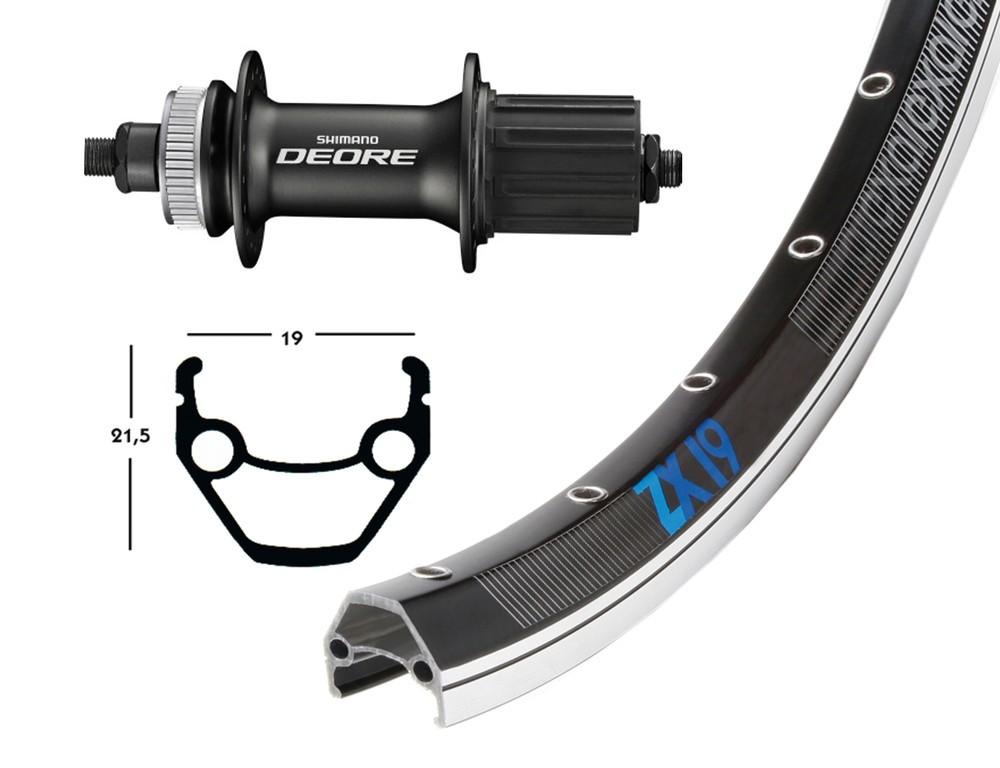 Exal 26 baghjul til centerlock Shimano Deore nav | Rear wheel