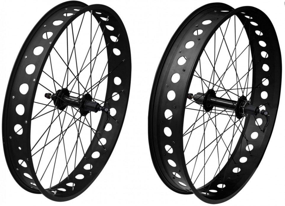 Fatbike hjulsæt sort 26