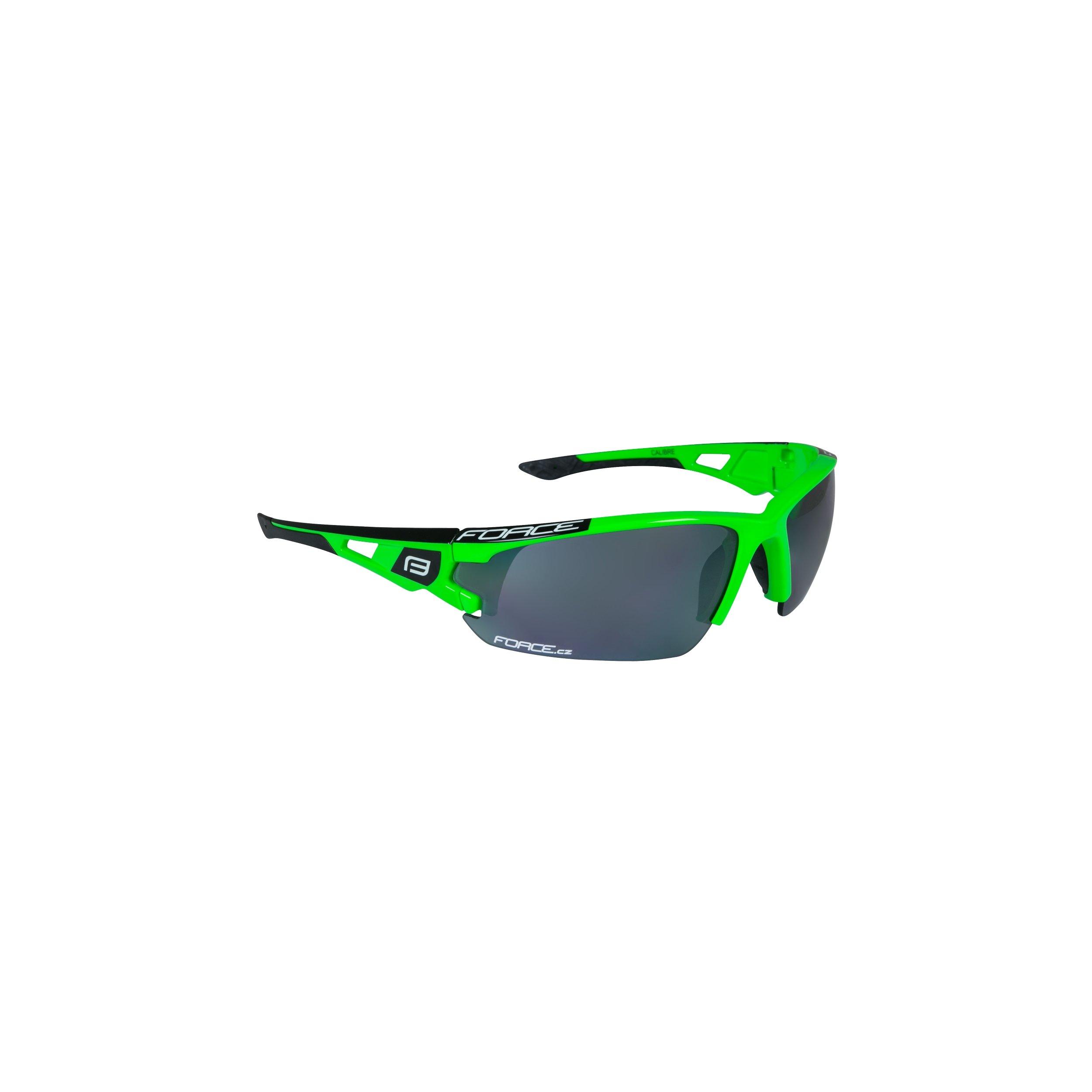 Force Calibre Fluogrøn Brille med 3 sæt linser   Glasses