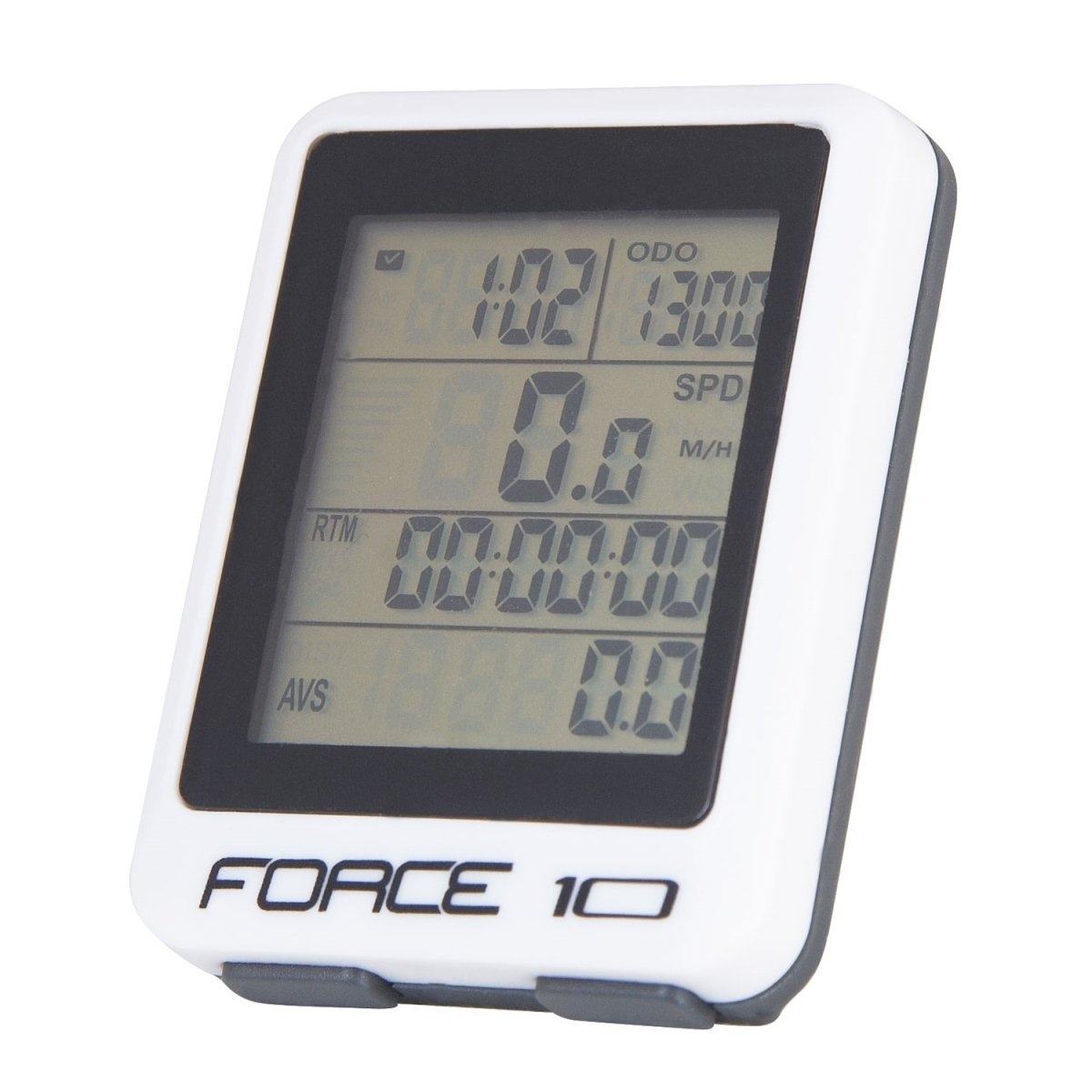 Force cykelcomputer 10 funktioner hvid | Cycle computers