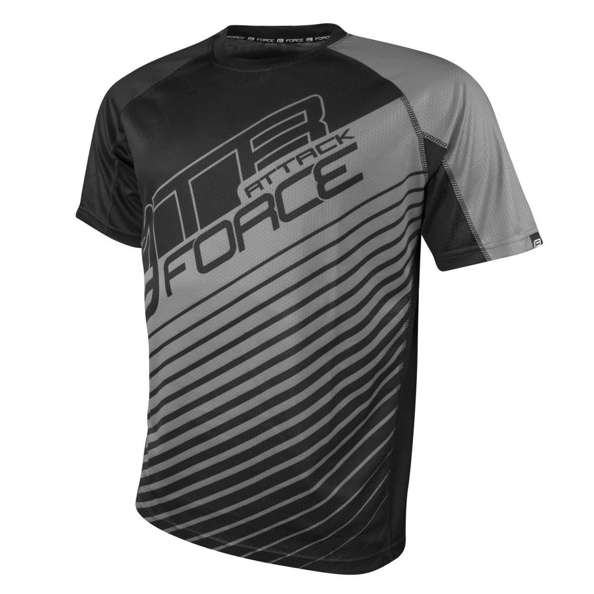 Force Attack MTB cykeltrøje sort / grå | Trøjer